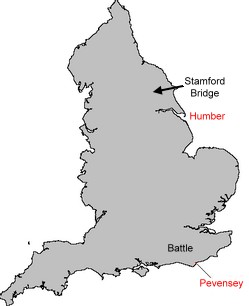Map Of England 450 Ad.The Battle Of Stamford Bridge 1066 Ad