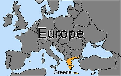 Greece coloured orange