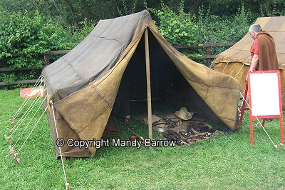 A leather tent for a Contubernium & The Roman army