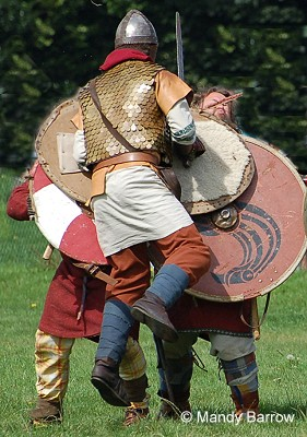 British fighter jumping on  a Saxon