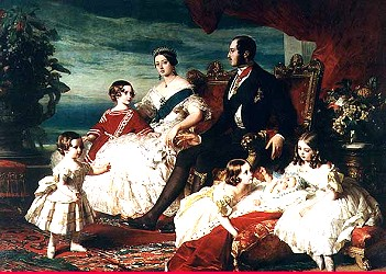 Queen Victorian and family