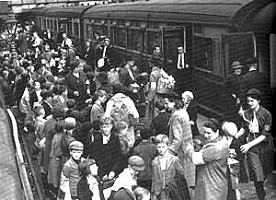 Evacuation by train