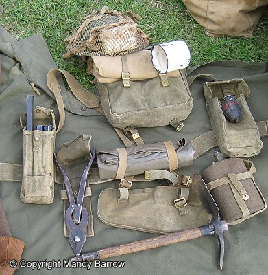 What was the soldiers kit in world war 2